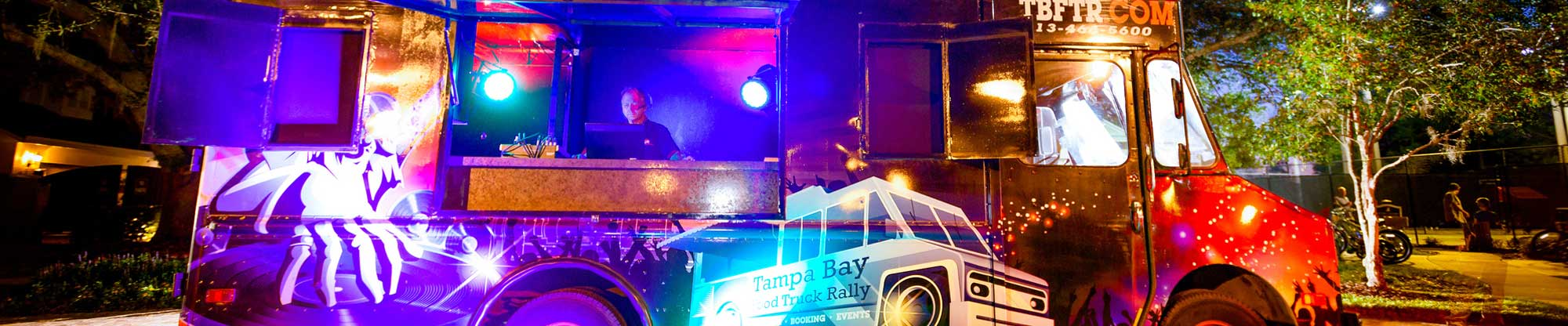 Photo of the mobile DJ truck